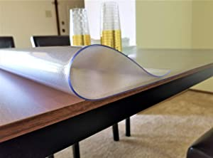 Plastic Table cloth, Multi size Table Protector Pad - PVC Vinyl Top Protector for rectangle desk, wood table cover for dining table - Heavy duty Tablecloth (40 X 60 inches, Frosted 2mm Thick)