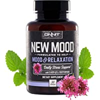 Onnit New Mood - Daily Stress, Mood, Sleep & Serotonin Supplement - Chamomile, Magnesium, Valerian, 5 htp - A Real Chill Pill (30ct)