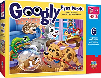 Amazon.com: MasterPieces Googly Eyes Pets Puzzle de ajuste ...
