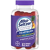 Alka-Seltzer Heartburn Plus Gas Relief Chews, Tropical Punch, Multi Size 1 Pack (82 Ct Total) xe#W
