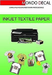 PAPEL TRANSFER PARA CAMISETAS/TEJIDOS OSCUROS, IMPRESION INKJET, 12 HOJAS A4: Amazon.es: Oficina y papelería