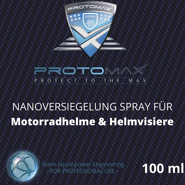 PROTOMAX Nanoversiegelung-Spray fü rs Motorrad: Motorradhelme, Helmvisiere, Integralhelme & Visiere (100 ml)