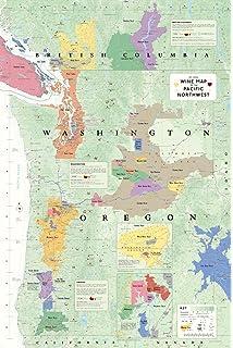 Wine Map Of California Steve De Long Mark De Long - Map de california
