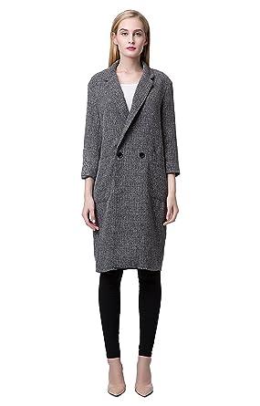 Manteau classique femme gris