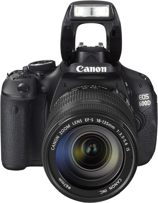 Canon EOS 600D Appareil photo num/érique R/éflex Kit Bo/îtier Objectifs 18-55 Mm IS//55-250 Mm IS 18 Mpix Noir