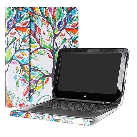 """Alapmk Diseñado Especialmente La Funda Protectora de Cuero de PU para 11.6"""" HP Chromebook x360"""