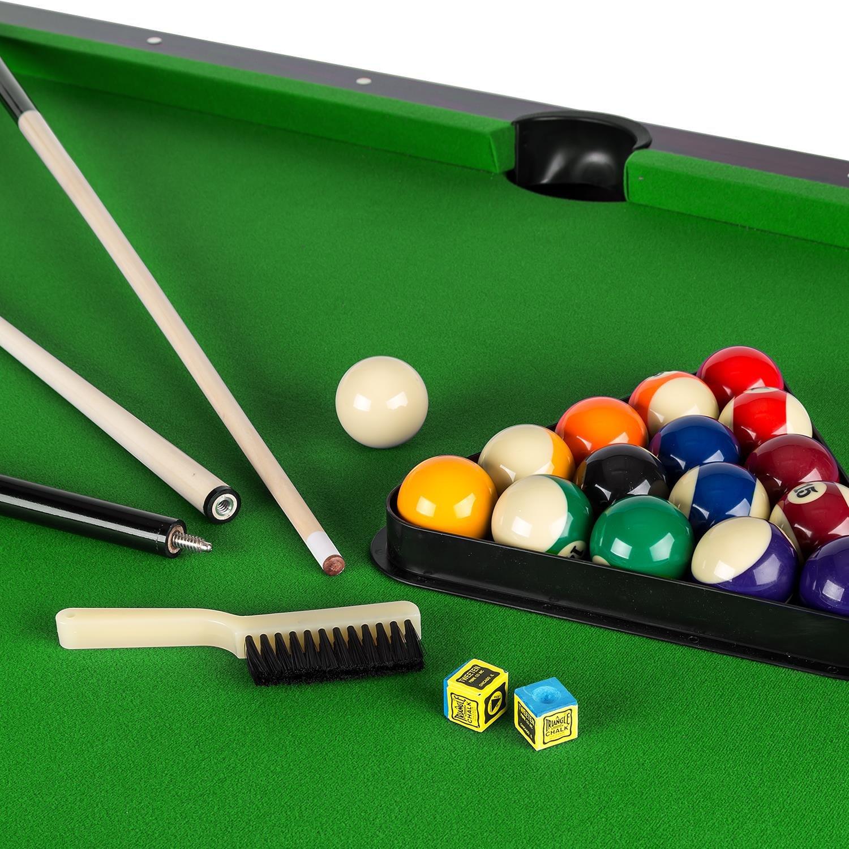 OneConcept Brighton billiard table pool table MDF wood cherry wood ...