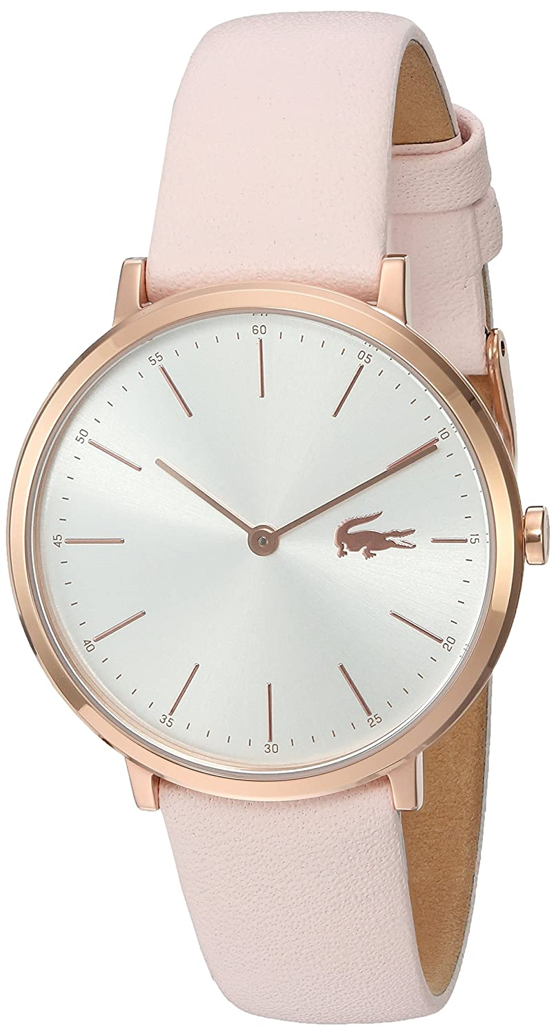Amazon.com: Lacoste Womens Quartz Gold and Leather Watch, Color:Pink (Model: 2000948): Lacoste: Watches