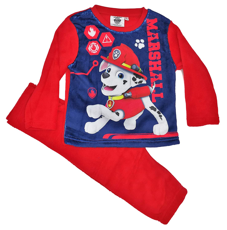 PAW PATROL BOYS Soft Coral Fleece Long Sleeve Pyjamas