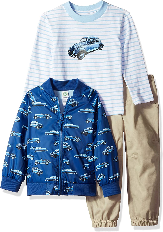 Little Me Boys/' Toddler Jacket Pants /& Shirt Set Tan, 4T