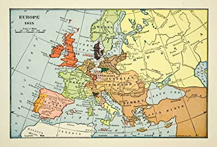 1939 Print Map Europe Turkey Russia France 19th Century Great ...