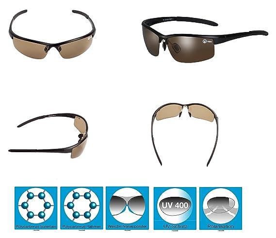 b63afe351e Gafas de sol S20 Cobra de Nexi, perfectas para hacer deporte o ir en  bicicleta, para hombre y mujer, con polarización (funda y paño de  microfibra incluidos) ...