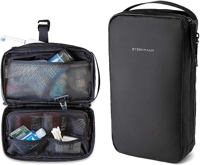Amazon Com Sterkmann Hanging Waterproof Travel Slim Toiletry Bag Organizer Bathroom Shaving Dopp Kit For Men