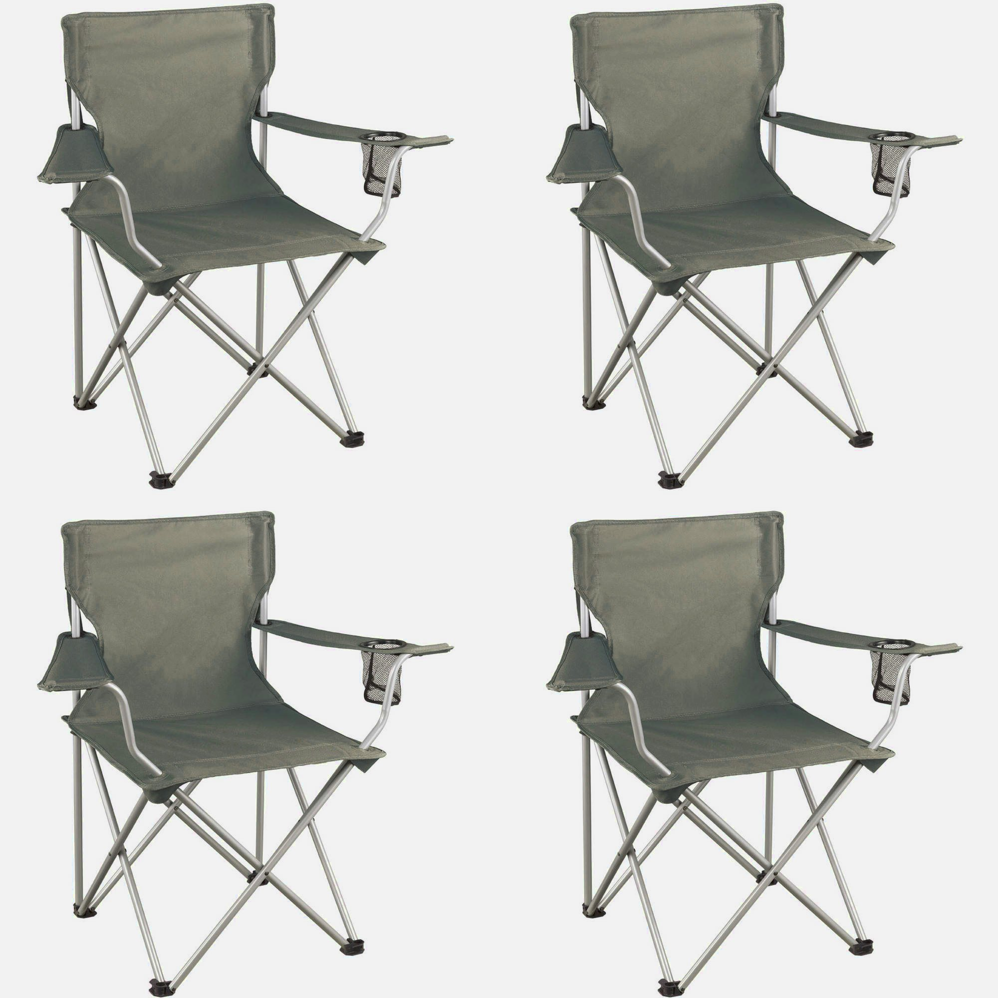 Huge Comfy Chair, Four Pieces, Grey Color, Steel Frame, Durable And High Resistant Construction, Lightweight, An Attractive And Modern Design, Portable, Foldable, Easy Setup, Low Maintenance & E-Book.
