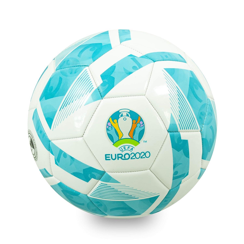 Euro 2020 Balón de fútbol, Unisex-Youth, Blanco y Turquesa, Talla ...