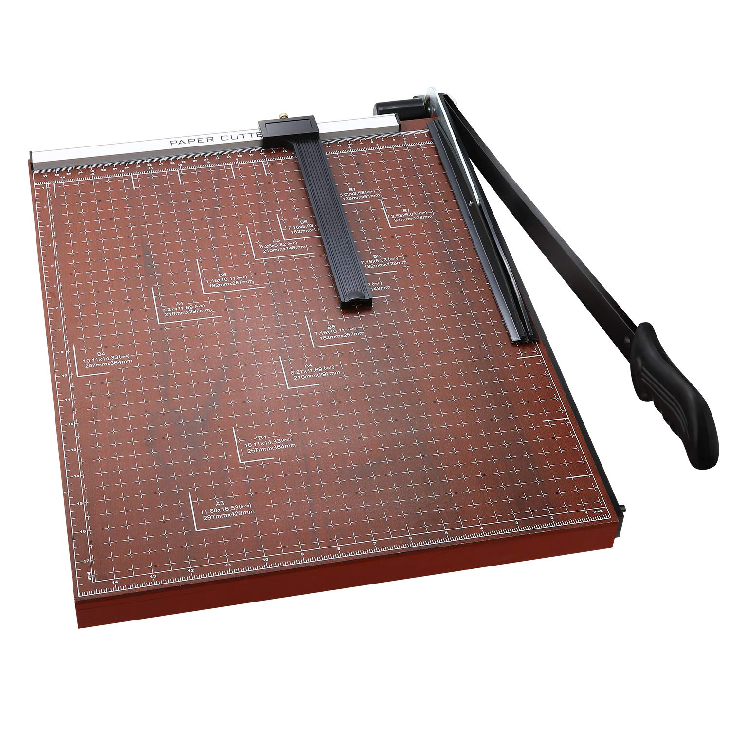 Paper Trimmer, A3 Guillotine Paper Cutter Blade Gridded Photo Guillotine Craft Machine, 18 inch Cut Length, 18.9'' x 15.0'' (Use for A2-A7) by Homdox