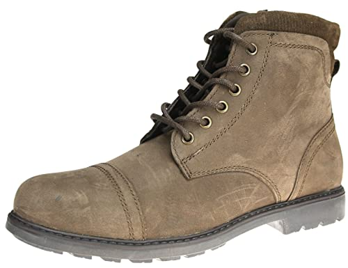 93d36a76b83 Red Tape Mens lace up Real Leather Mens Ankle Military Army Combat Boots  with Inside Zip