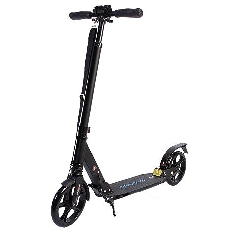 makanih® City Roller Scooter para adultos Big Wheel aluminio ...