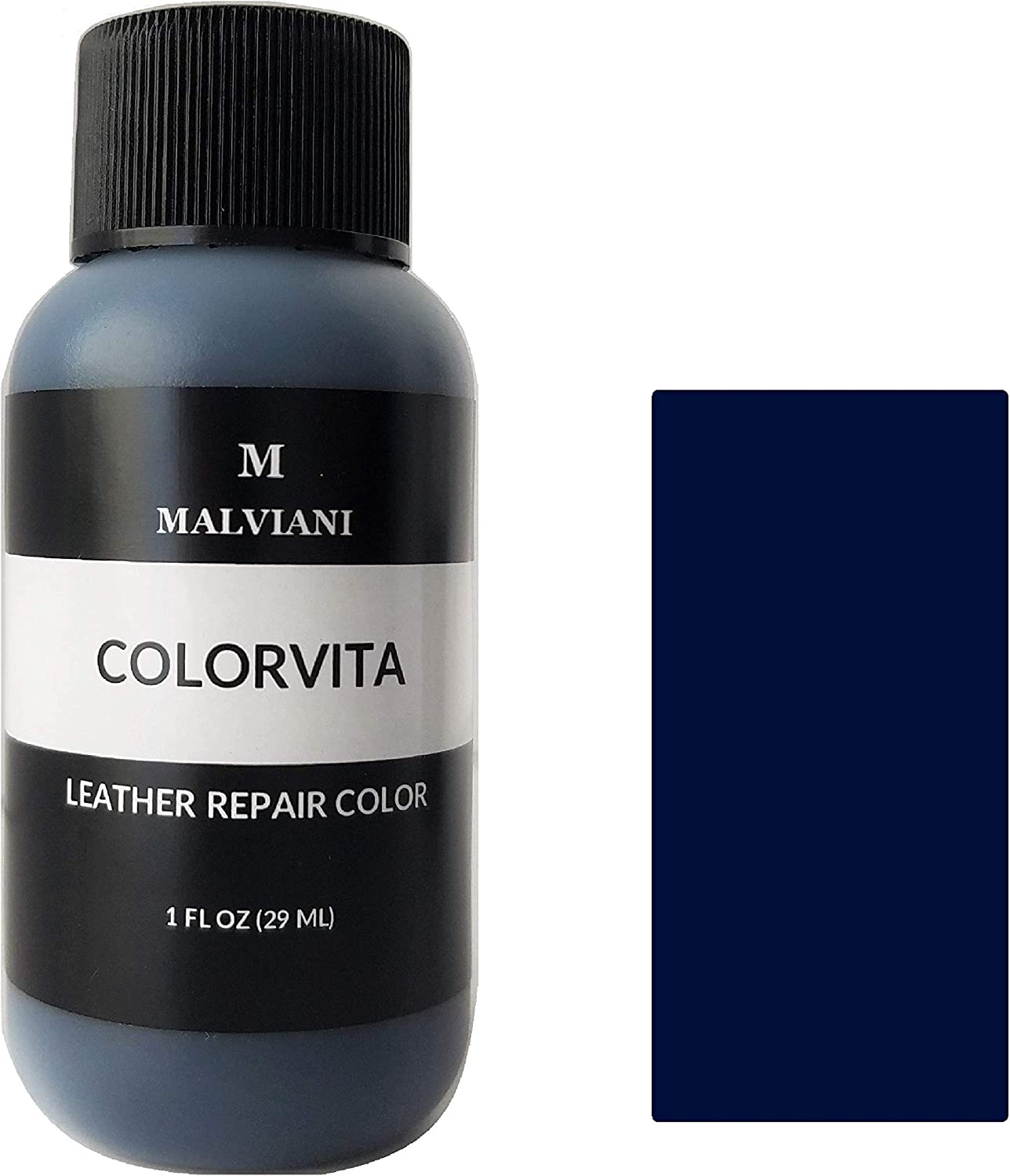 Leather Repair Color Restorer - Restore Furniture, Couch, Car Seats & Vinyl (No Kit) - 1 oz. Navy Blue Torciano