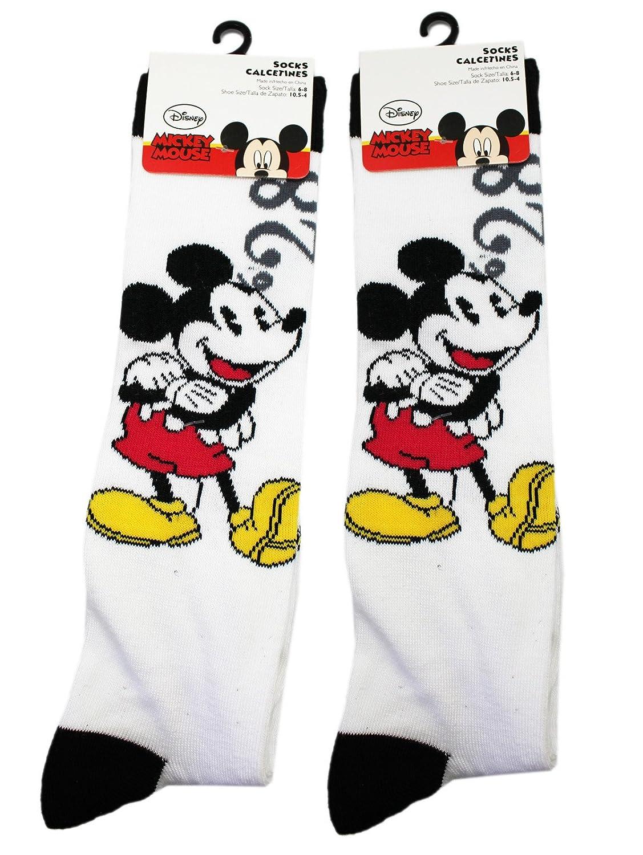 Amazon.com: Disneys Mickey Mouse Black/White Classic Animation Socks (2 Pairs, Size 6-8): Clothing