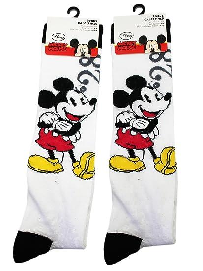 Disneys Mickey Mouse Black/White Classic Animation Socks (2 Pairs, ...