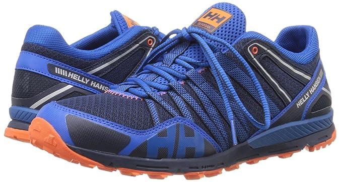 Helly Hansen Terrak, Chaussures de Running pour Homme Noir Noir, Evening Blue, 25 EU