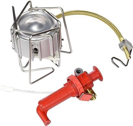 MSR DragonFly - Hornillo de gas para camping, color Multicolor (Silver/Red)