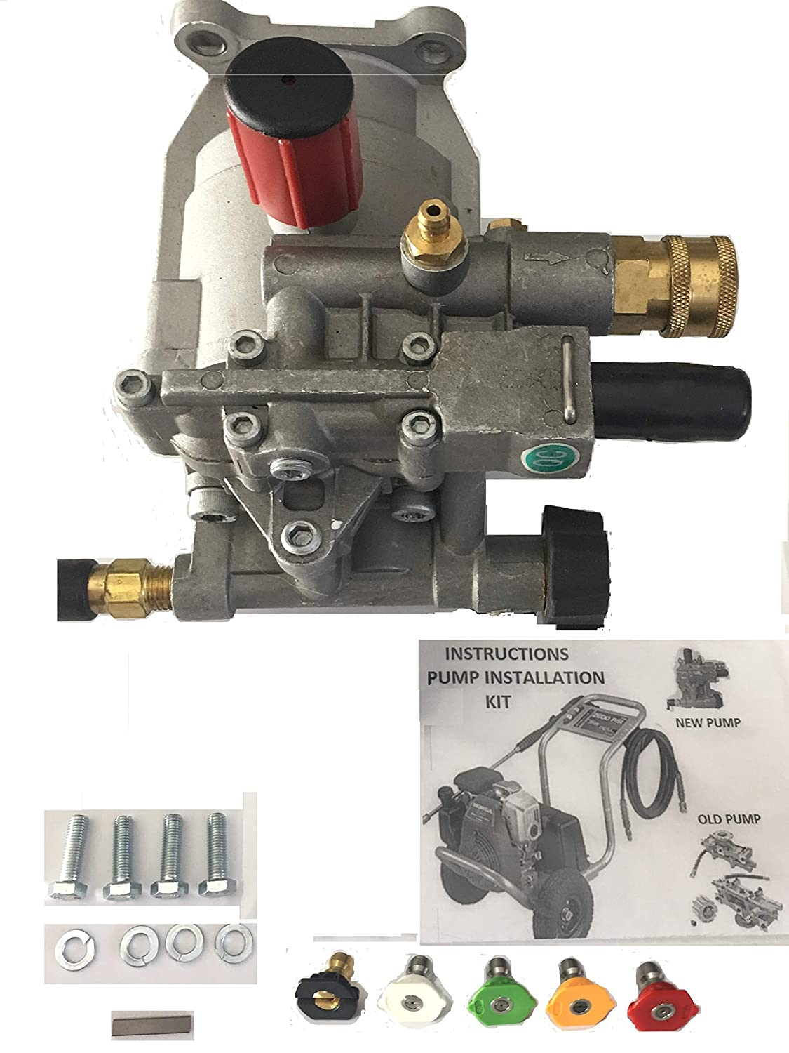 Amazon.com : pumps-n-more priority shipping New PRESSURE WASHER PUMP KIT  Replaces A14292 Fits Honda Excell FULL ONE YEAR WARRANTY - Includes thermal  relief ...