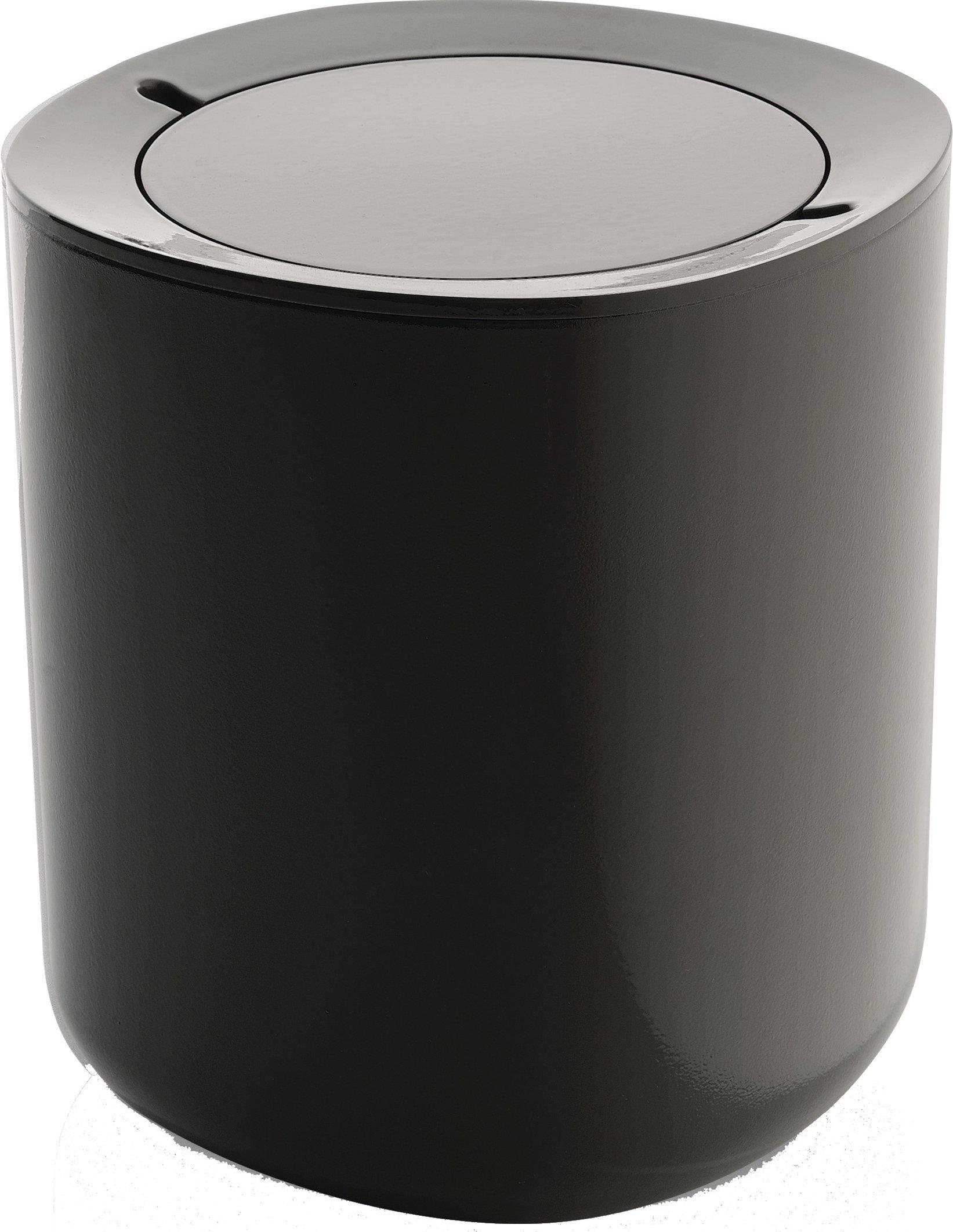 Alessi ''Birillo'' Bathroom Waste Bin, Dark Grey