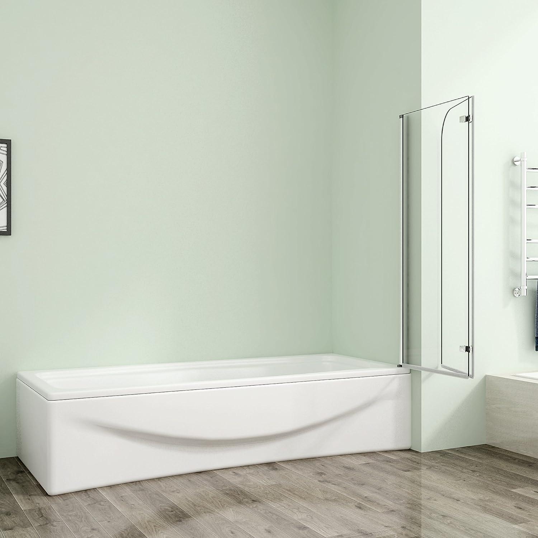 120x70x140cm Badewannenaufsatz Duschabtrennung Duschwand Badewanne