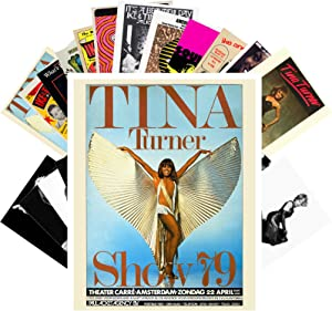 Postcard Set 24 cards TINA TURNER Pop Music Posters Photos Vintage Magazine covers
