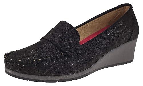Elifano Footwear 8F102 - Botas Mocasines Mujer, Color, Talla 36 EU