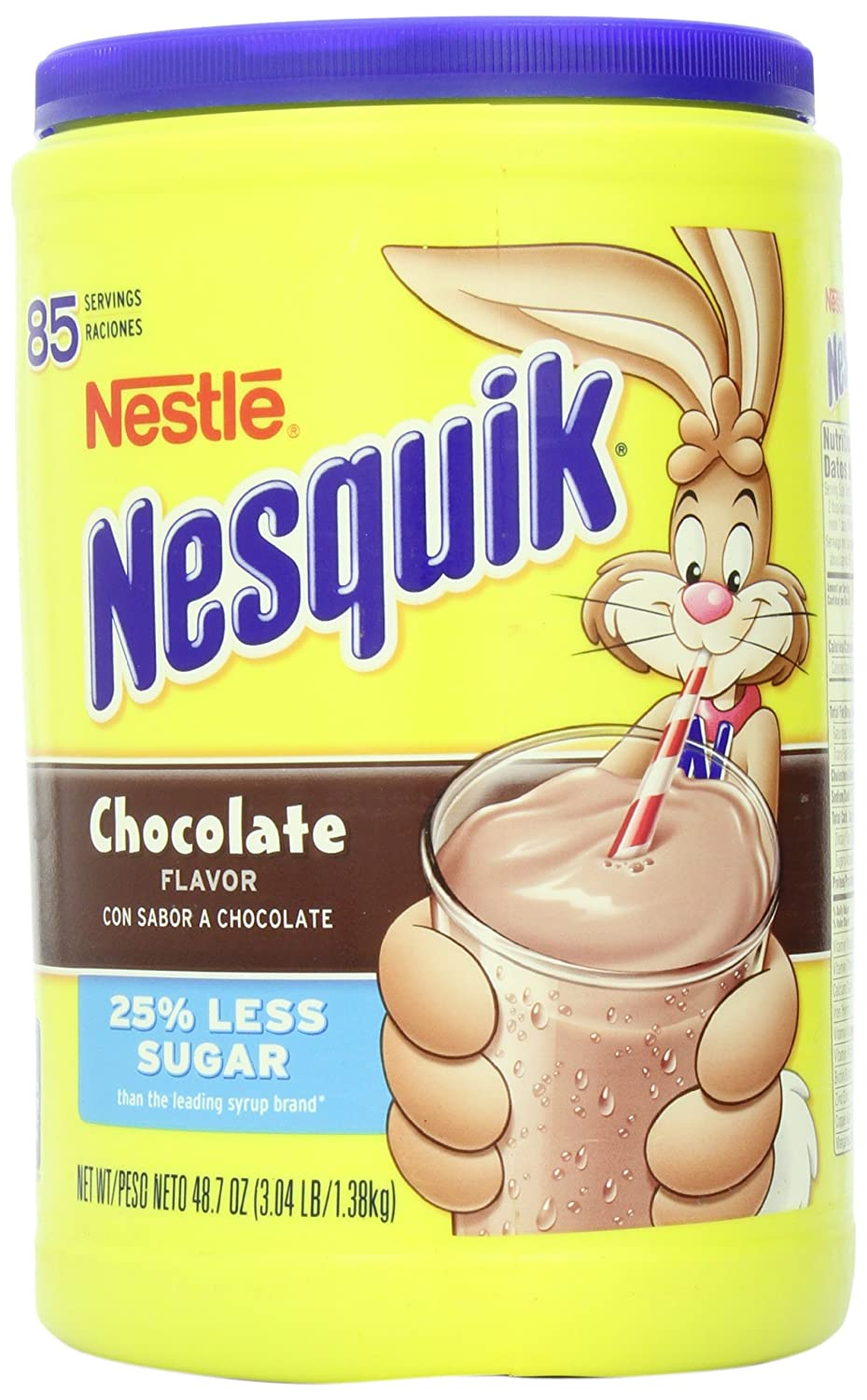 Amazon.com : Nesquik Chocolate Milk Drink Mix, Jug, 48.7 oz : Hot ...
