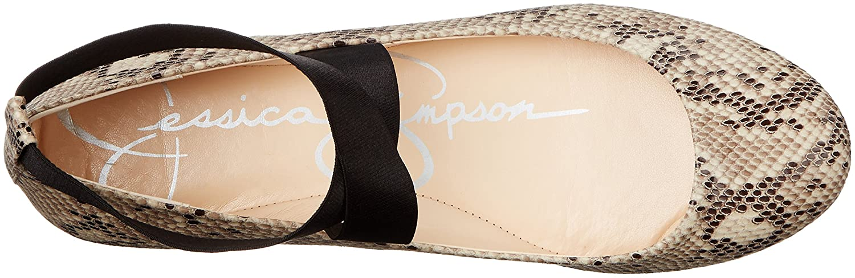 Jessica Simpson Women's 11 Mandayss Ballet Flat B01FN6Q0EU 11 Women's B(M) US|Black/White a869ef
