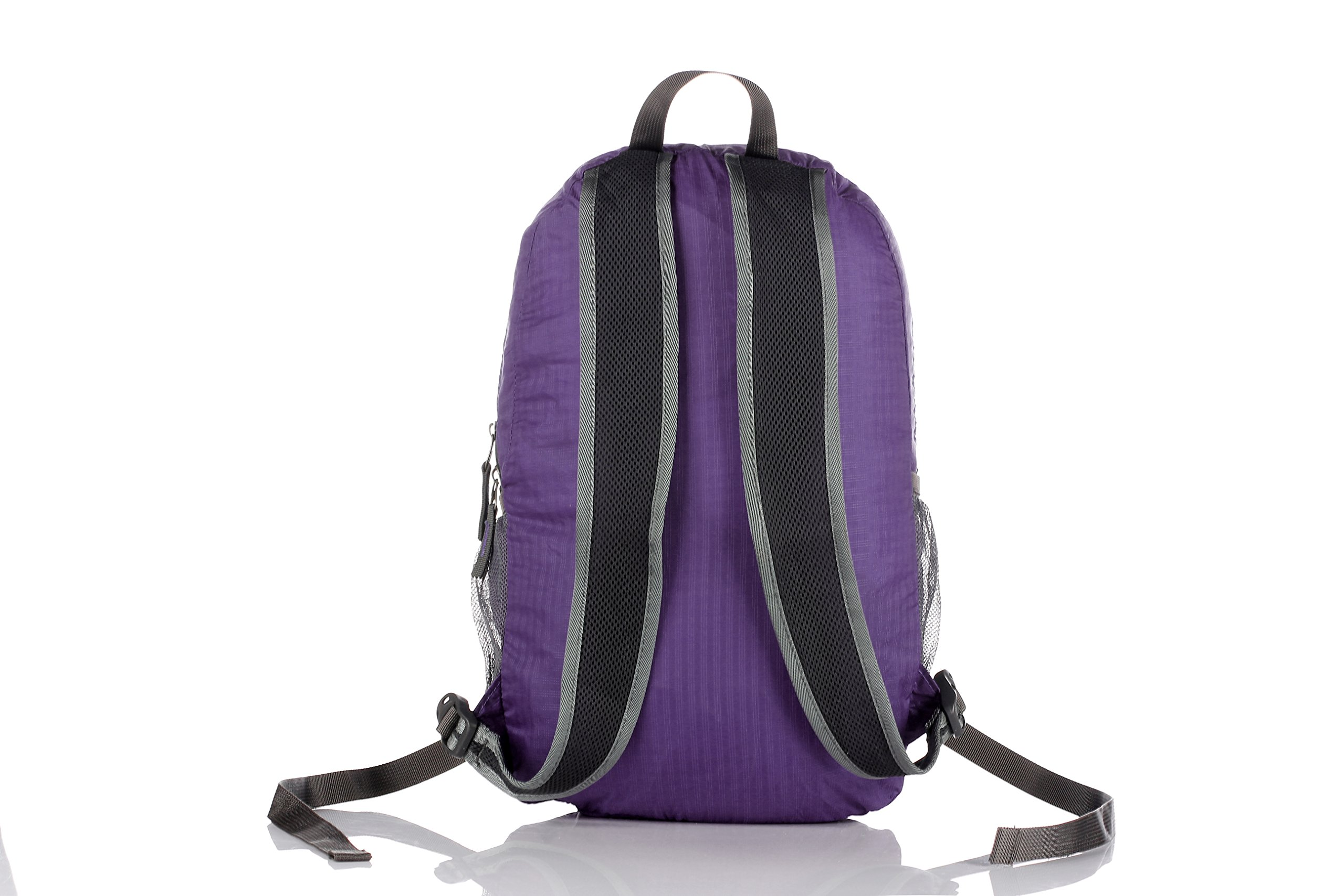 Outlander Packable Handy Lightweight Travel Hiking Backpack Daypack-Purple-L by Outlander (Image #3)