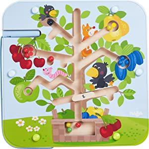 HABA Orchard Maze Magnetic Game Fosters Fine Motor Skills, Counting and Color Recognition