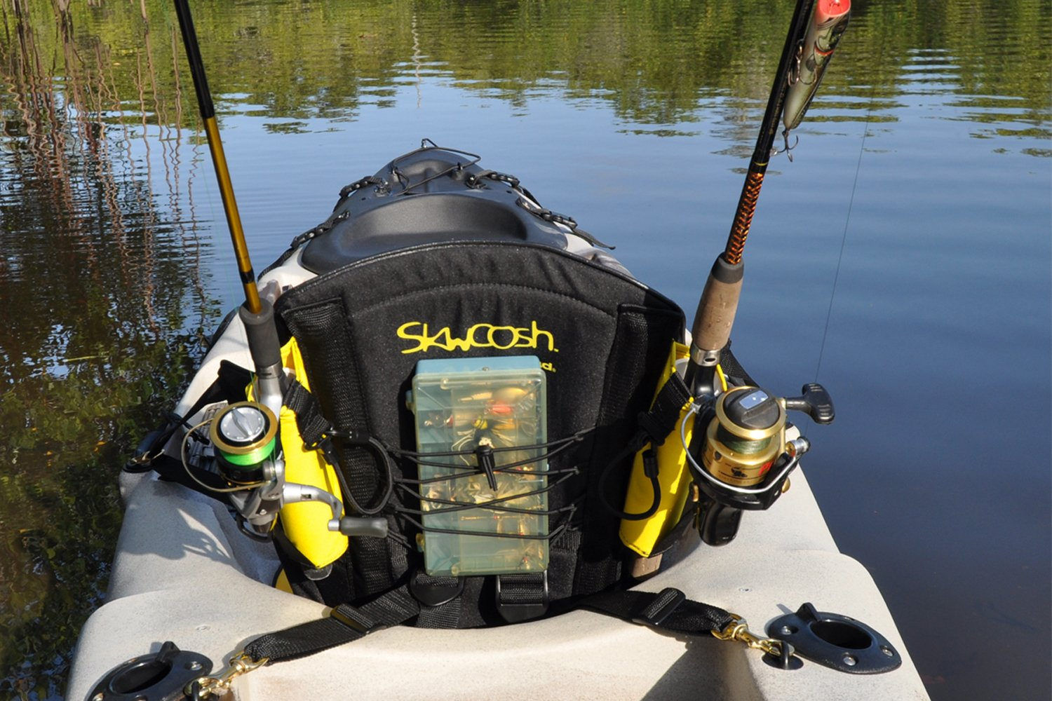 Kayak Fishing Seat for Anglers Fishermen 20'' High Back Support with Lumbar Roll and Nylon gel seat for Big Catch kayaking comfort