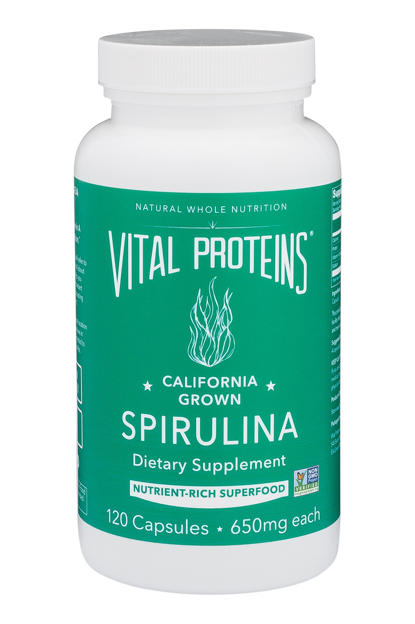 Vital Proteins Spirulina 650 mg 120 Capsules