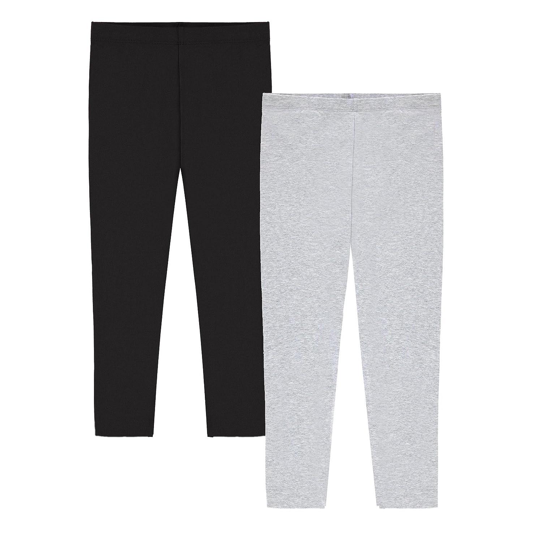 Popular Girl's Cotton Capri Crop Leggings - 2 Pack POP-SICCR