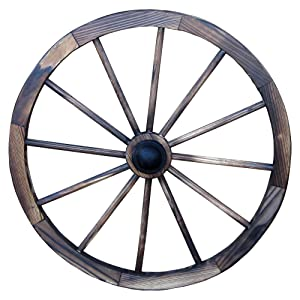 "Leigh Country TX 93949 24"" Wagon Wheel, 24 Inch, Walnut Finish"
