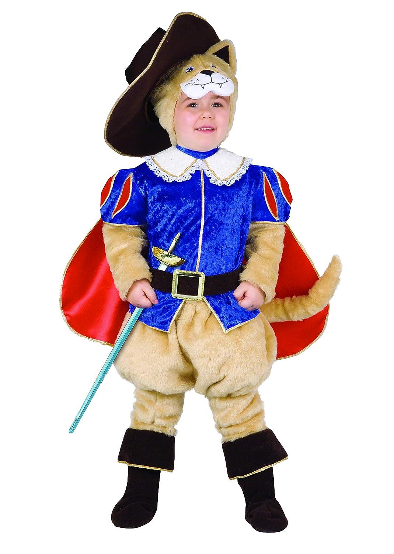 Gatto con gli Stivali costume bambino (3 4 anni), rosso