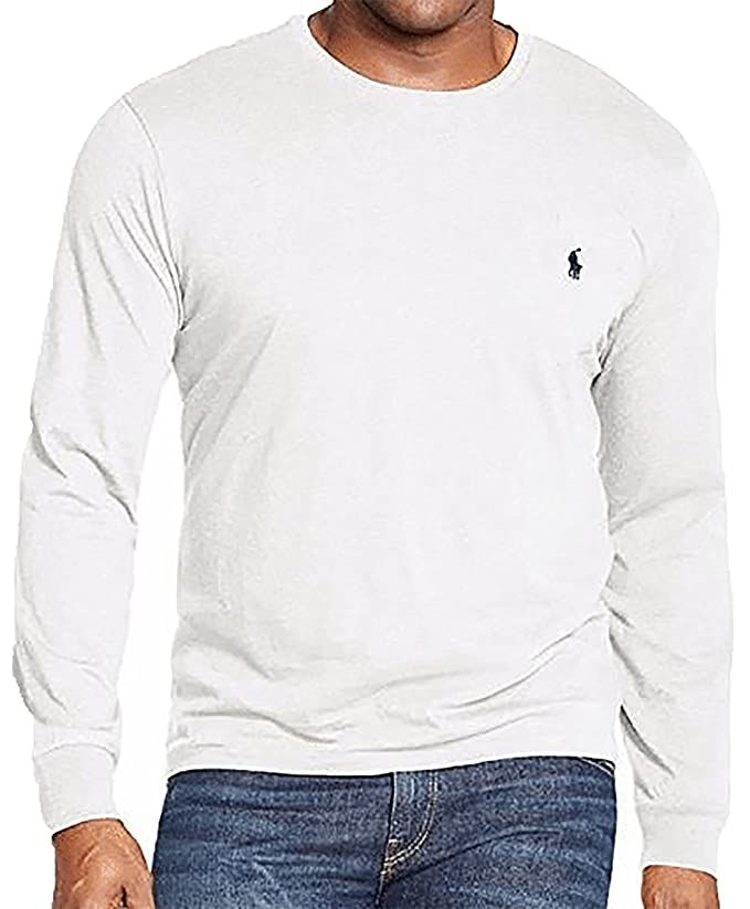 Polo Ralph Lauren Men's Long Sleeve Pony Logo T-Shirt - Large - White