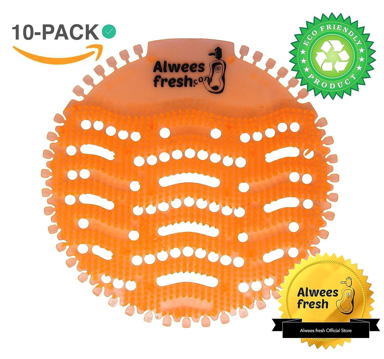 Deodorante per urinatorio, neutralizzatore cattivi odori, tappetino toilet, tappetino profumante al mango (10 pezzi), urinal screens by Alwees Fresh Quality UK Imports