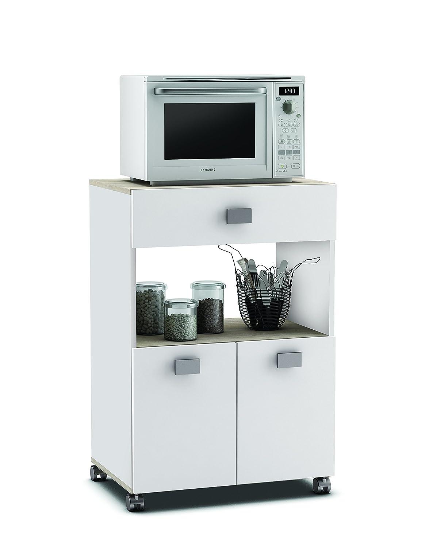 Küchenwagen 145 AKAZIE in WEISS Küchentrolley mit Schublade ...