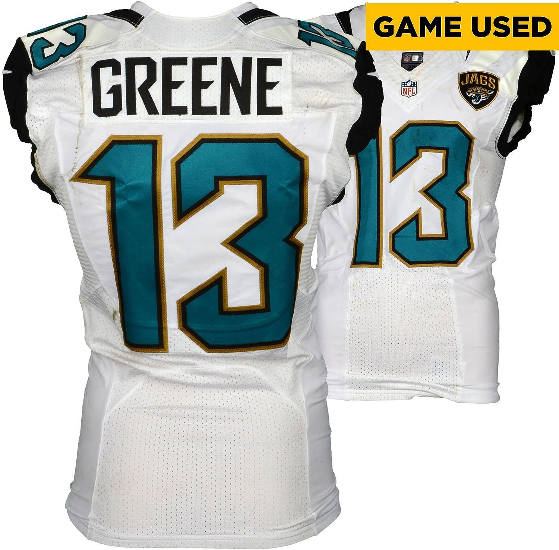 7d200d6d8 Rashad Greene Sr. Jacksonville Jaguars Game-Used  13 White Jersey vs.  Baltimore Ravens on September 25