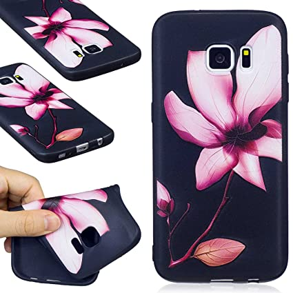 Guran® Carcasa Silicona TPU Protectora Funda Case para Samsung Galaxy S7 Smartphone Bumper Shock Cover Caso - Magnolia