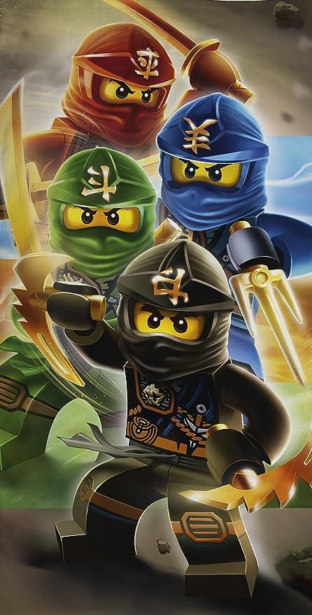 LEGO Ninjago cuadrante guerreros algodón playa toalla de ...