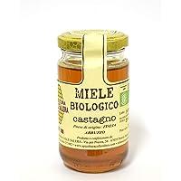 Miele biologico di Castagno - Italiano non Pastorizzato | Apicoltura Colle Salera (250 gr)