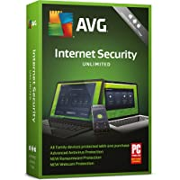 AVG Internet Security 2018 Unlimited - 1 Year Unlimited Devices (PC/Mac/Android)