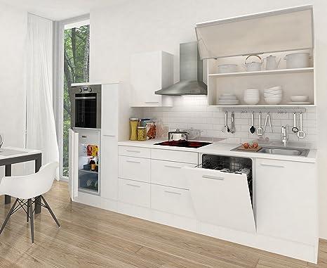 respekta Cocina vacíos de Bloque RP300HWG 310 cm, Color Blanco Brillante